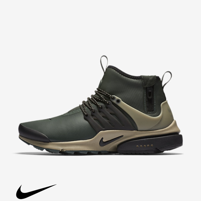 Nike Vouch Air Presto Mid Utility Grove Green/Khaki/Black Shoes FJSTWY0256