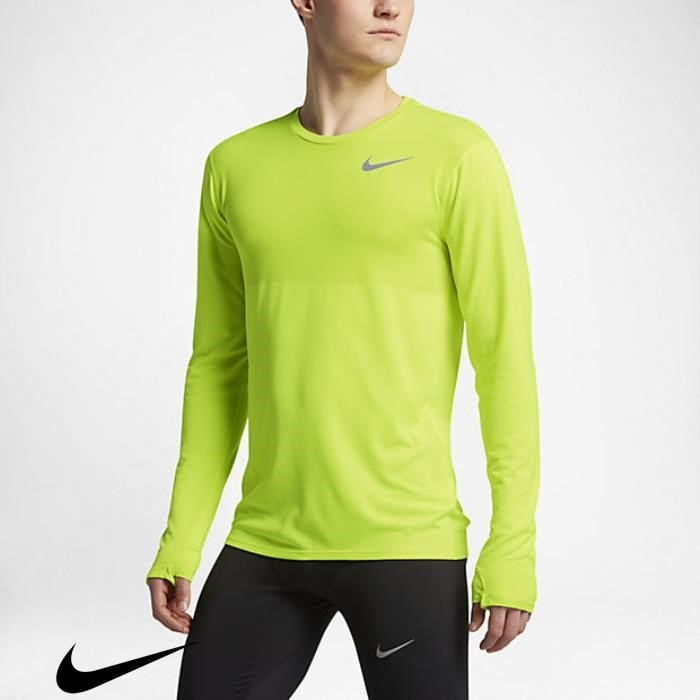 Nike Zonal Cooling Relay Mens Running Reason Volt Top Sleeve Long BHIJPST356