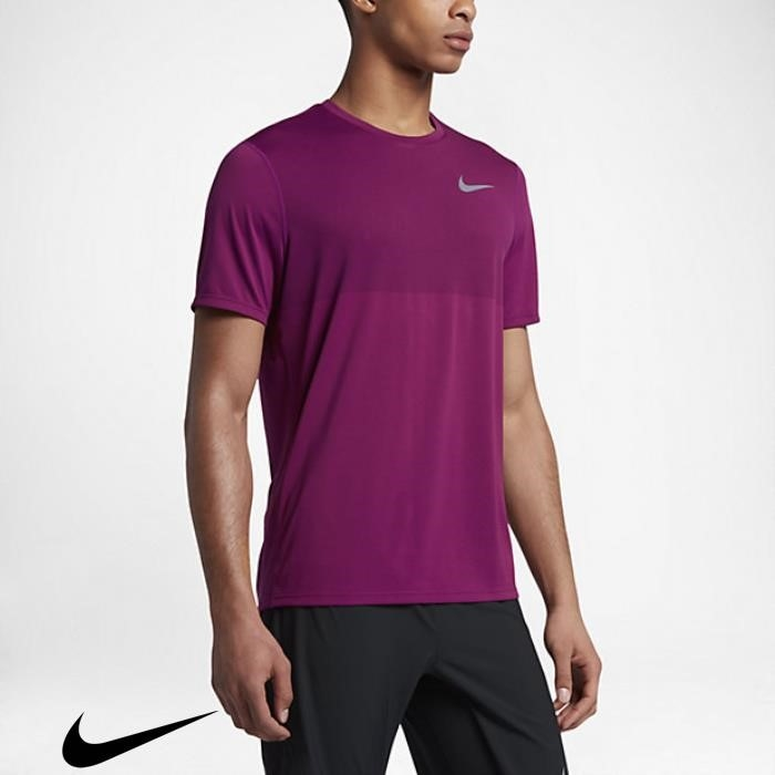 Nike Zonal Cooling Relay Mens Short Likelihood Sleeve Berry True Running Top DFKMTVWY69