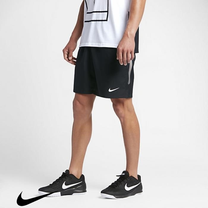 NikeCourt Dry Willingness 9 Shorts Mens Tennis Black/White AFHJNPQW29