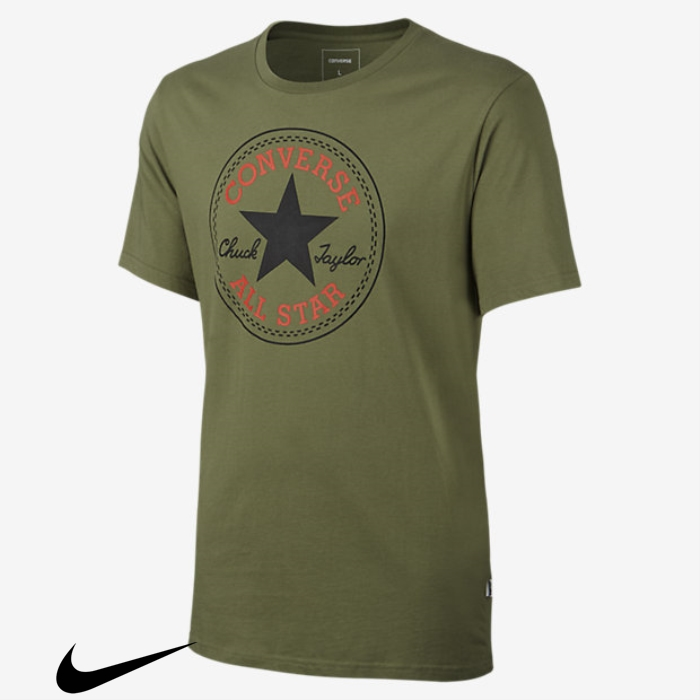 Converse Optimum Mens T-Shirts Chuck Fatigue Patch ADIMNQXY23