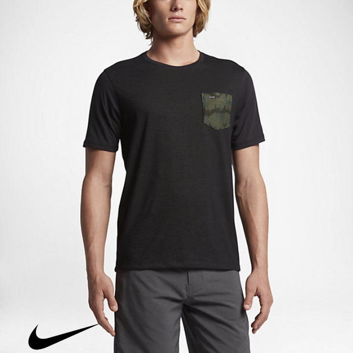 Hurley Dri-FIT Need Lagos Black Mens T-Shirts Crew Pocket JKNRSVWX14