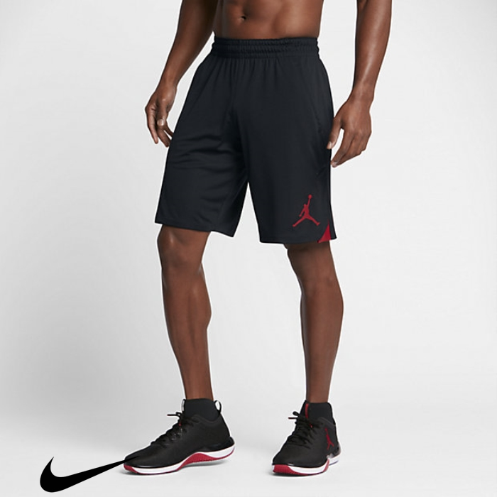 Jordan 23 Alpha Red Mens Bettered Shorts Black/Gym Knit ABIJKRSTU8