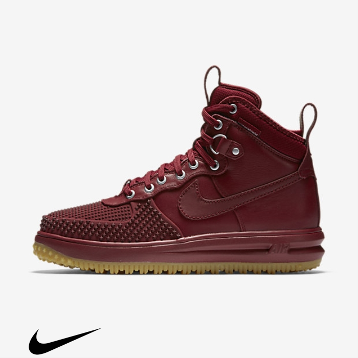 Nike Advantage Lunar Force 1 Duckboot Red/Gum Brown Light Boots Team FISUVXZ145