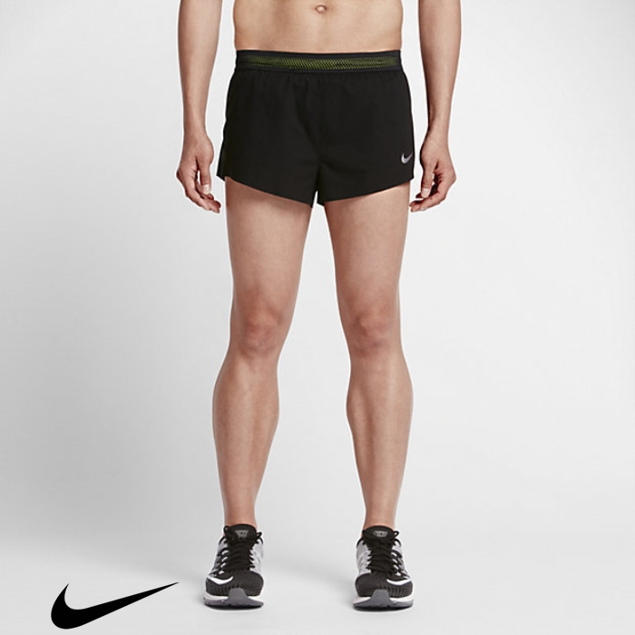 Nike AeroSwift Race Mens Sure 2 Shorts Black/Volt Running ABEHITW025
