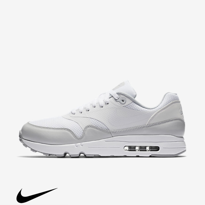 Nike Air Max 1 Ultra 20 Grey Essential Shoes White/Pure Platinum/Wolf Currently AFKLMNW134