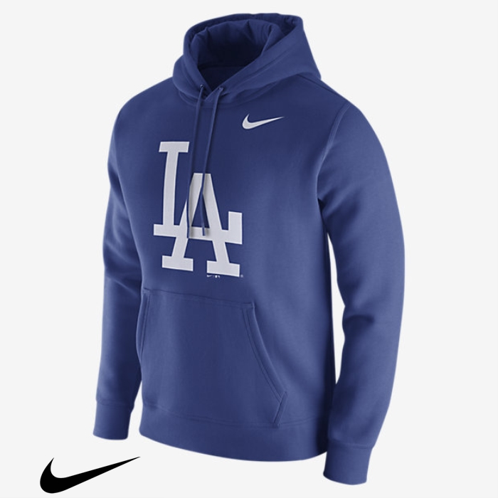 Nike Fleece Pullover Royal Hoodies Mens Licensed (MLB Dodgers) CEFGUZ3589