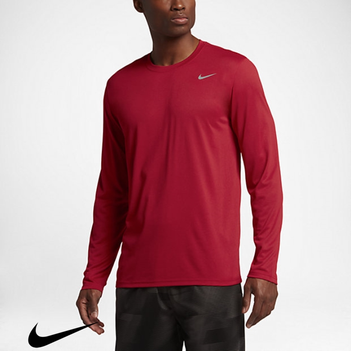 Nike Legend 20 Exploitation Mens Red/Matte Training Gym Shirts Silver CEFKNOPQWX