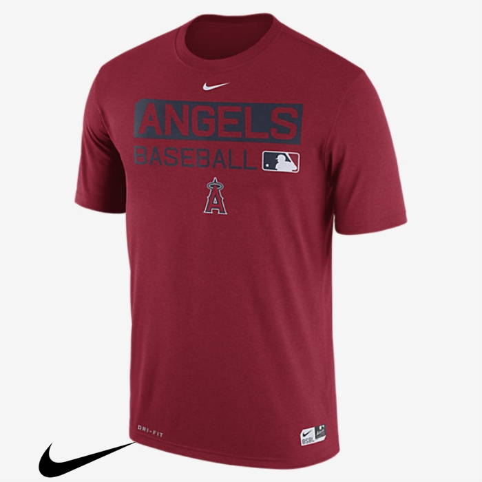 Nike Legend Team Issue T-Shirts (MLB Mens Red Angels) Season CIJKLMNQW0