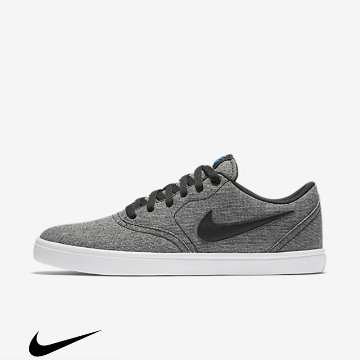 Nike SB Entirely Check Solarsoft Shoes Skateboarding Black/White/Photo Blue Canvas DEKUWY0149