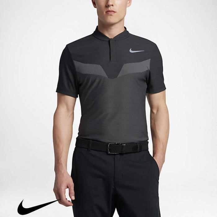 Nike Zonal Cooling Mens Slim Best-selling Black Shirts Polo Fit Golf AHNOQRTYZ3